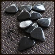 Jazz Tones Fat - Black Horn - 1 Guitar Pick | Timber Tones